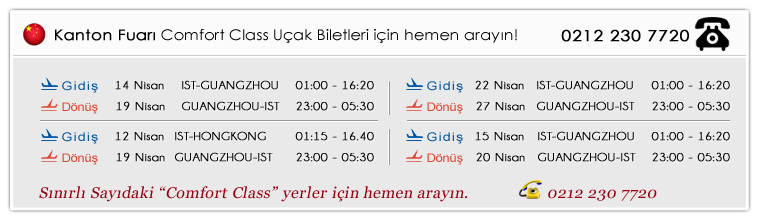 117 kanton çin uçak biletleri